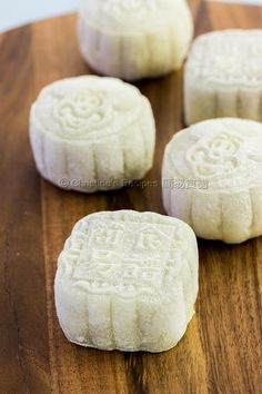 Purple Sweet Potato Snowskin Mooncakes from Christine's Recipes Christine's Recipe, Recipe Ideas, Mooncake Recipe, Cooking Chinese Food, Delicious Desserts, Yummy Food, Fun Food, Easy Chinese Recipes, Easy Recipes