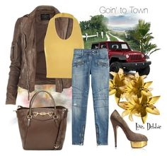 """""""Goin' to Town"""" by debbie-michailides ❤ liked on Polyvore"""