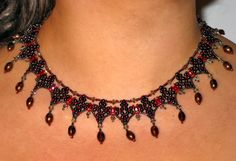 Free pattern for necklace Federica Click on link to get pattern - http://beadsmagic.com/?p=4994