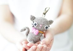 Amigurumi cat kitty PDF crochet pattern pattern by The Sun and the Turtle