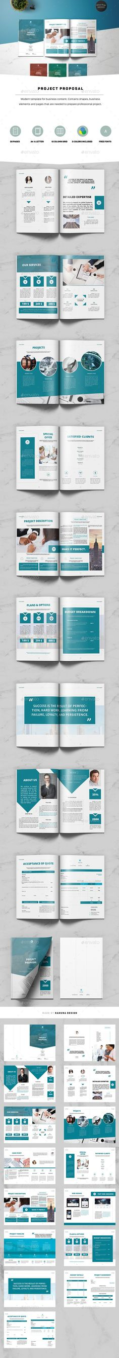 Buy Project Proposal by Kahuna_Design on GraphicRiver. OFF LIMITED TIME ONLY!Project ProposalProject Proposal was designed as an universal template with original struct. Invoice Design Template, Stationery Templates, Stationery Design, Brochure Template, Print Design, Web Design, Graphic Design, Best Proposals, Project Proposal