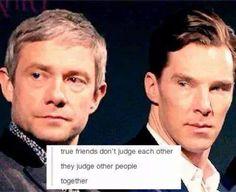 Indeed, though is it Bilbo & Smaug or Sherlock & John doing the judging...