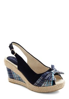 plaid hoc wedge by Modcloth    I normally don't even like plaid, but these are really cute without being too high.