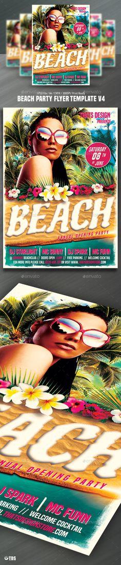Free Beach Party Event Psd Flyer Template Httpfreepsdflyer