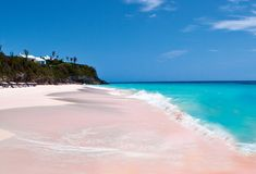 Pink beaches of Harbour Island, Bahamas