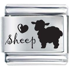 Pugster Love(heart) Sheep Laser Italian Charm Italian Charms, $17.97 plus 3.25 shipping.