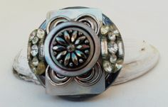 2014 West Side Spring Avant-Garde Art & Craft Show Vendor- Vintage mother of pearl crystal and shell button by Artifacets, $32.00