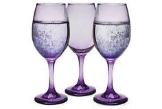 S/6 Izabel Wine Glasses, Purple on OneKingsLane.com