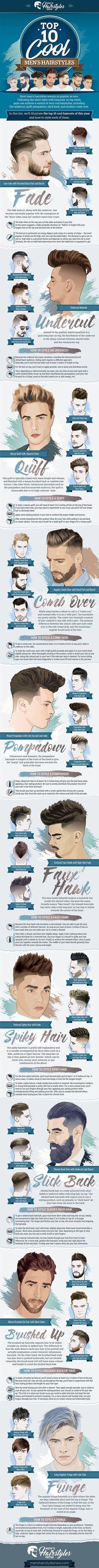 Infographic: Trendiest Hairstyles For Men In 2017 - DesignTAXI.com #MensFashionHairstyles