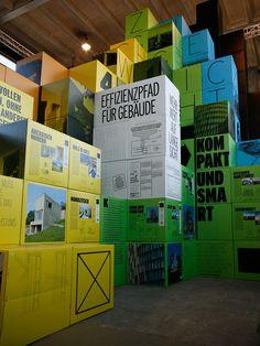 Scenography, Exhibition, «Bauen für die 2000-Watt-Gesellschaft», Zurich City, Holzer Kobler Architekturen, Grafics: Raffinerie, Zürich