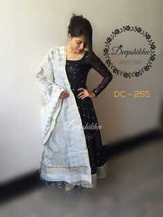 DC - 255For queries kindly inbox orEmail - deepshikhacreations@gmail.comWhatsapp/Call -  919059683293 29 May 2016 29 November 2016 Kalamkari Dresses, Ikkat Dresses, Designer Anarkali Dresses, Designer Dresses, Dress Neck Designs, Blouse Designs, Dress Indian Style, Indian Outfits, Chudidhar Designs