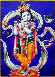 """☀ SHRI KRISHNA ॐ ☀  """"Therefore I do not find a greater person than he who has no interest outside of Mine and who therefore engages and dedicates all his activities and all his life, everything, unto Me without cessation.""""~Srimad Bhagavatam 3.29.33"""