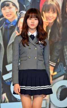 Kim so hyun Kim So Hyun Fashion, Korean Fashion, Korean Girl, Asian Girl, School Uniform Outfits, School Uniforms, Kim Sohyun, Asian Celebrities, Korean Actresses