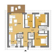 Projekt bungalovu - O110 - pôdorys