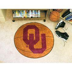 Oklahoma Sooners NCAA Basketball Round Floor Mat (29)