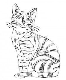 Изображение кота с помощью точек. Можно создать из стразов или пайеток