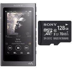 e2015f849 Sony NW-A35B 16GB Walkman High Resolution Audio Player w/ Sony 128GB  MicroSD Sony