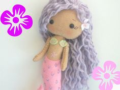Felt Mermaid Doll by PlatoSquirrel