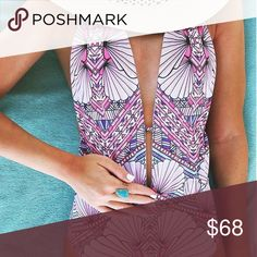 Gorgeous Colorful Backless One Piece Swimsuit Gorgeous Colorful Backless One Piece Swimsuit! Must have for summer Swim One Pieces