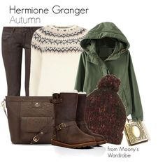 Hermione Granger would wear this n a casual day out. Harry Potter Mode, Harry Potter Style, Harry Potter Outfits, Teen Fashion, Winter Fashion, Womens Fashion, Hermione Granger Hair, Winter Looks, Harry Potter Kleidung