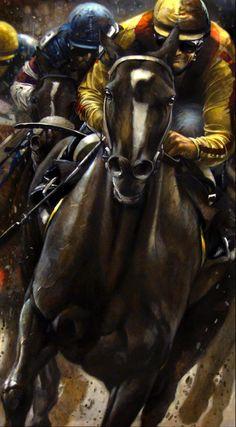 Rachel Alexandra beats all the boys AGAIN! Chicken Painting, Horse Wallpaper, Horse Illustration, Racehorse, Horse Drawings, Equine Art, Horse Art, Animal Paintings, Animal Photography