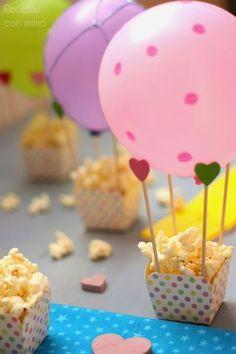 globos aerostaticos cajitas de popcorn Más
