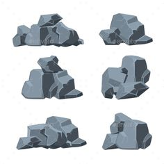 Buy Cartoon Stones Vector Set by on GraphicRiver. Stone Game, 2d Game Art, Texture Drawing, Fantasy Forest, Conceptual Design, Realistic Drawings, Environment Design, Landscape Illustration, Environmental Art