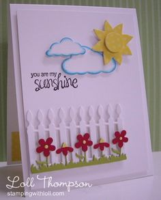Sunshiny Day - WT427 Card with picket fence