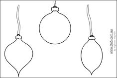Christmas Baubles (balls) - 3 different shapes printable template Christmas Projects For Kids, Christmas Trees For Kids, Childrens Christmas, Christmas Crafts, Christmas Activities, Christmas Ideas, Printable Christmas Ornaments, Christmas Templates, Free Christmas Printables
