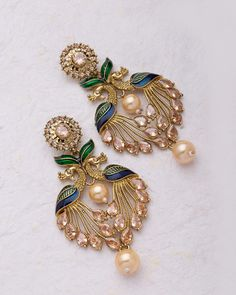 Huge Range Of Designer Earring. Explore various kind of Earrings on Voylla, from to to Designer Earrings. Huge Range Of Designer Earring. Explore various kind of Earrings on Voylla, from to to Designer Earrings. Indian Jewelry Earrings, Gold Jhumka Earrings, Indian Jewelry Sets, Jewelry Design Earrings, Buy Earrings, Gold Earrings Designs, Ear Jewelry, Fashion Earrings, Fashion Jewelry