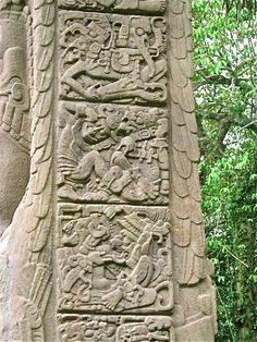 Beautiful panels cover the sides of Stela D. These carvings of various Maya gods… Egyptian Symbols, Mayan Symbols, Viking Symbols, Ancient Symbols, Ancient Aliens, Ancient Art, King Picture, Inka, Aztec Art
