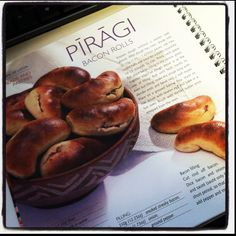 Latvian Piragi (bacon rolls).  A tradition for Holidays and special occasions. And just like that, I'm homesick