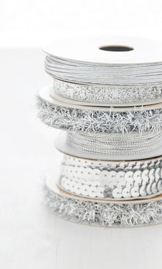 silver tinsel and trims