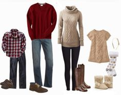 Play with maroon reds, beige neutrals and chunky knits! Perfect combination!