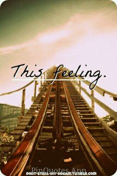 ... the anticipation.....at the top of a roller coaster!!!