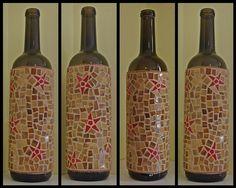 Turn a wine bottle into a piece of art!  Mosaic star wine bottle by Meaco's Art Garden, via Flickr