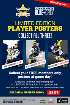 NQ Cowboys NRL 16 V, Sports Marketing, Rugby League, Cowboys, Fan, Engagement, Ideas, Board, Engagements