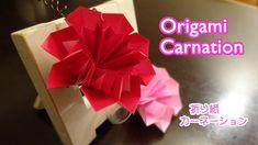 "Origami Carnation flower ""Mothers Day"" / 折り紙 カーネーション 折り方 【母の日】"