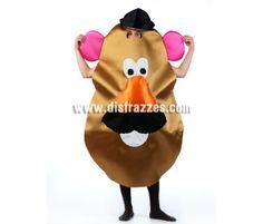 Disfraz de Sr. Patata para adultos. Incluye disfraz. Disfraz muy Original y Exclusivo perfecto para Comparsas, Grupos y Peñas.
