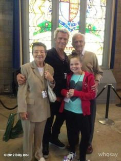Billy Idol and family
