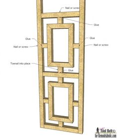 Build a unique room divider to add style to your space, free DIY fretwork screen plans on #remodelaholic.