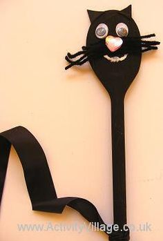 Wooden Spoon Cat Puppet