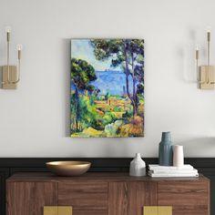 Poster Landschaft von Paul Cézanne, Kunstdruck