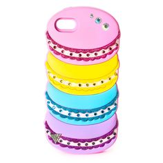 Inspired by the French confection, this sweet silicone Katy Perry cover for iPhone and is shaped like a stack of macarons. The pink, yellow, blue and … Claires Phone Cases, Weird Phone Cases, Kawaii Phone Case, Cool Cases, Iphone Phone Cases, Phone Covers, Coque Ipad, Coque Iphone, Katy Perry Merchandise