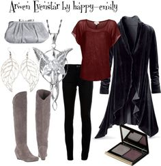 """Arwen Evenstar"" by happy-emily on Polyvore. Or maybe something like this if I decide not to wear a dress to the movies. ;)"
