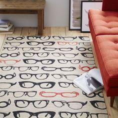 Specs Jute Mat 4'x6', Black/Red
