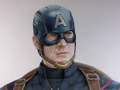 Captain America (Age of Ultron) coloured pencil drawing