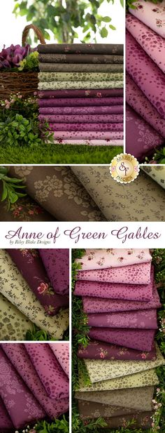 Anne of Green Gables is a beautiful collection by Riley Blake Designs. 100% cotton. Shabby Fabrics, Anne Of Green Gables, Riley Blake, Fabulous Fabrics, Doll Clothes Patterns, Shopping Sites, Quilting Ideas, Fabric Patterns, Color Combinations