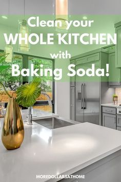Here's exactly how to clean your entire kitchen with baking soda. All natural recipe for DIY cleaning. Tips for using baking soda in your whole home. #cleaning #deepclean #bakingsoda #naturalcleanerrecipe #kitchen #HomeUsesBakingSoda #VinegarBakingSodaCleaner #HouseholdUsesForBakingPowder #BakingPowderUses Baking Soda For Cooking, Baking Powder For Cleaning, What Is Baking Soda, Baking Soda For Skin, Baking Soda Beauty Uses, Baking Soda Health, Arm And Hammer Baking Soda, Baking Soda On Carpet, Baking Soda Baking Powder