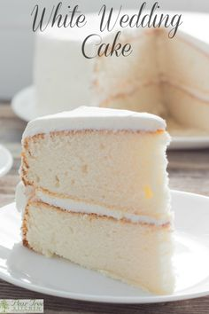 White Wedding Cake – Delicious white cake with white buttercream icing. Tastes … White Wedding Cake – Delicious white cake with white buttercream icing. Tastes like an old-fashioned white wedding cake. Simple enough for beginners. Wedding Cake Frosting, Cake Frosting Recipe, Frosting Recipes, Cupcake Recipes, Bakery White Cake Recipe, Recipes For Cakes, White Icing Recipe For Cake, White Cake Recipes, Wedding Cake Cupcakes